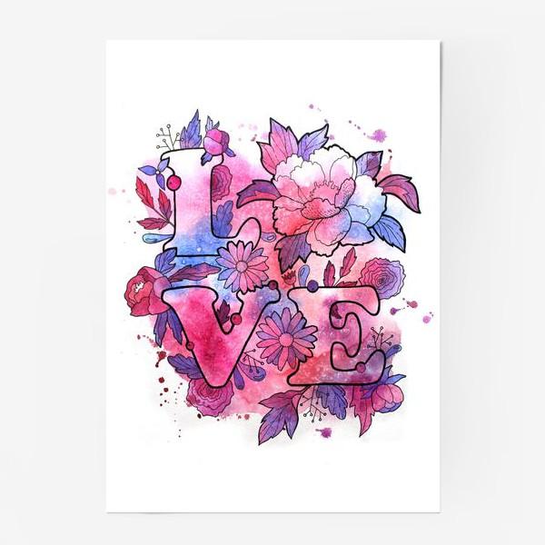 Постер «Любовь. Love. День влюбленных»