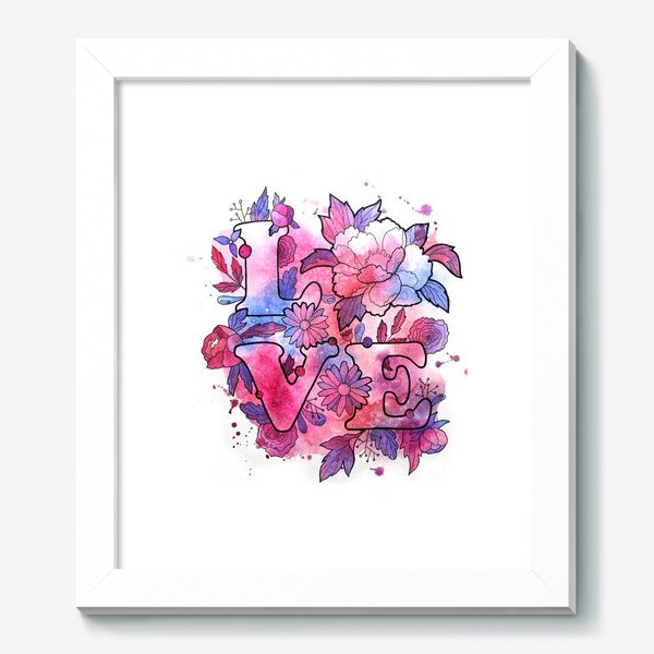 Картина «Любовь. Love. День влюбленных»