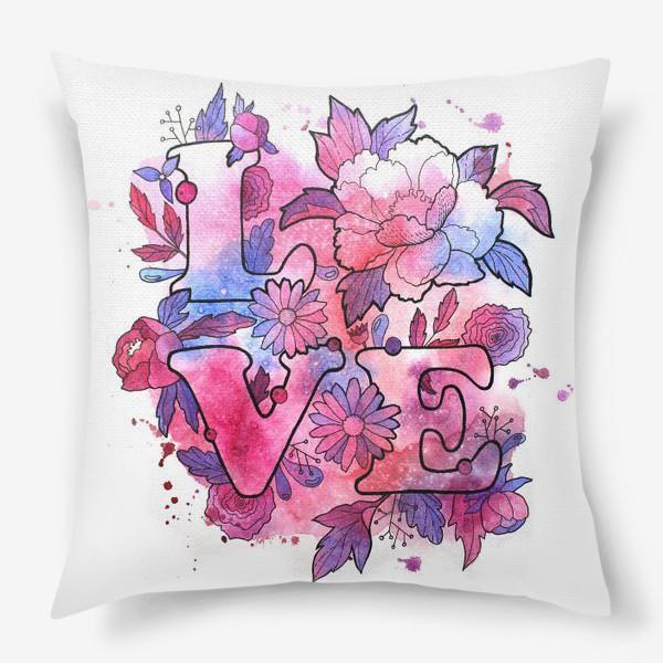 Подушка «Любовь. Love. День влюбленных»