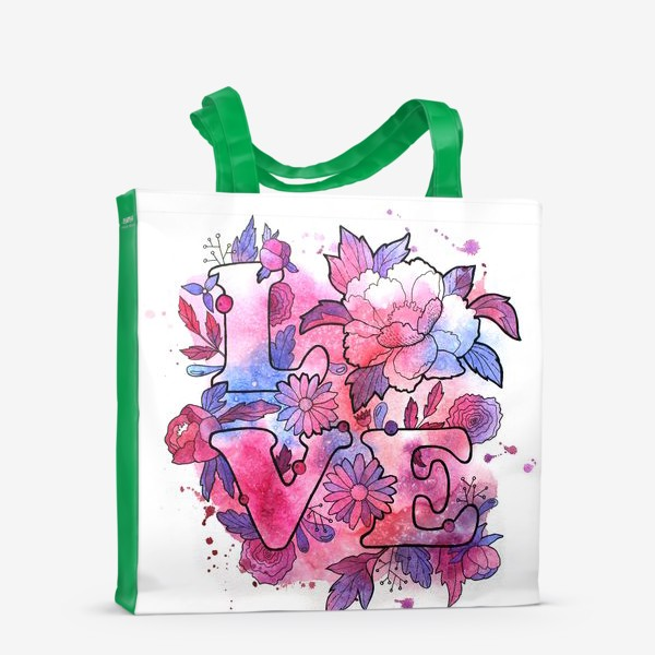 Сумка-шоппер «Любовь. Love. День влюбленных»