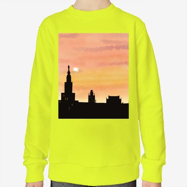 Свитшот «Восход в городе»