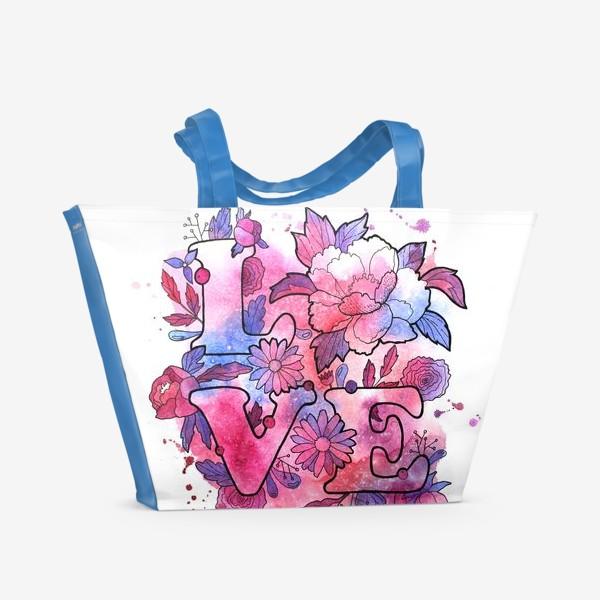 Пляжная сумка «Любовь. Love. День влюбленных»