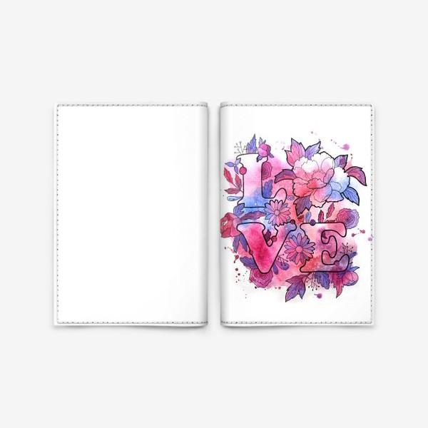 Обложка для паспорта «Любовь. Love. День влюбленных»