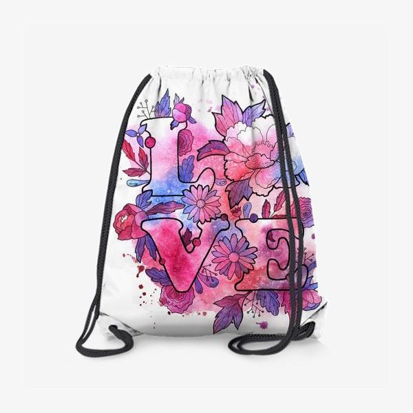 Рюкзак «Любовь. Love. День влюбленных»
