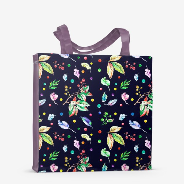 Сумка-шоппер «Акварельные осенние листья 9»