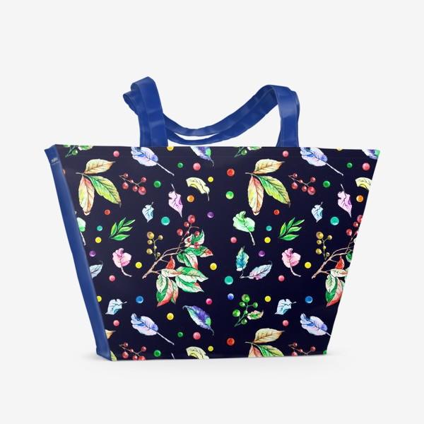 Пляжная сумка «Акварельные осенние листья 9»