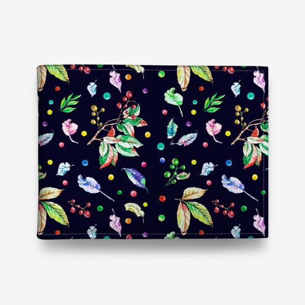 Кошелек «Акварельные осенние листья 9»