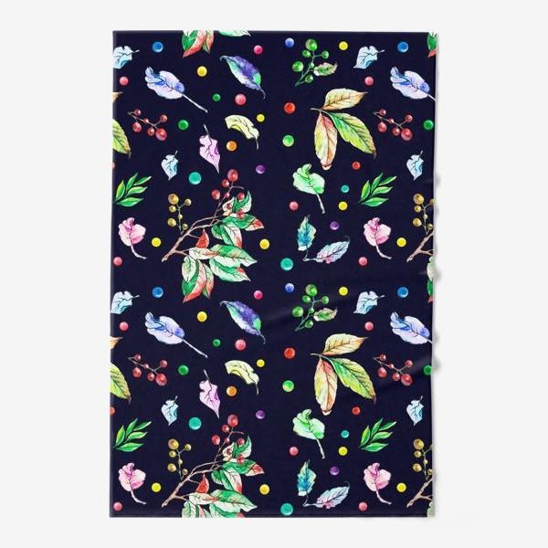 Полотенце «Акварельные осенние листья 9»