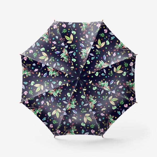 Зонт «Акварельные осенние листья 9»