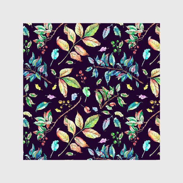 Шторы «Акварельные осенние листья 3»