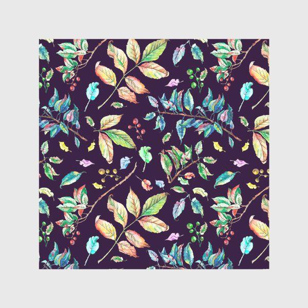 Скатерть «Акварельные осенние листья 3»