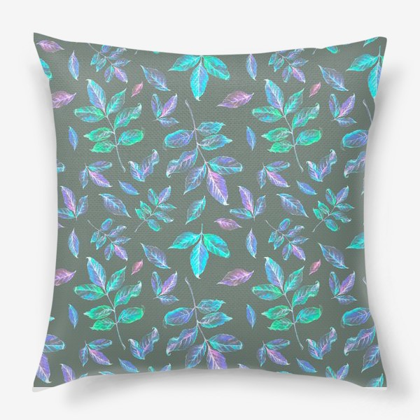Подушка «Акварельные осенние листья 6»