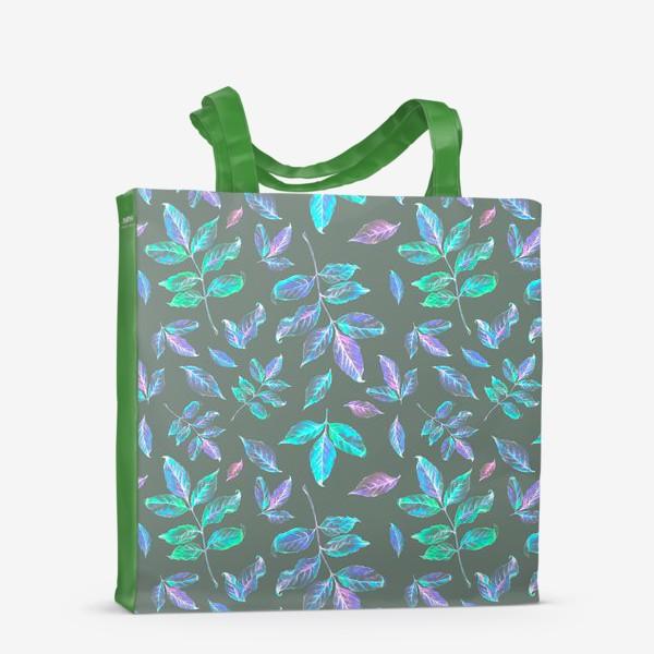 Сумка-шоппер «Акварельные осенние листья 6»