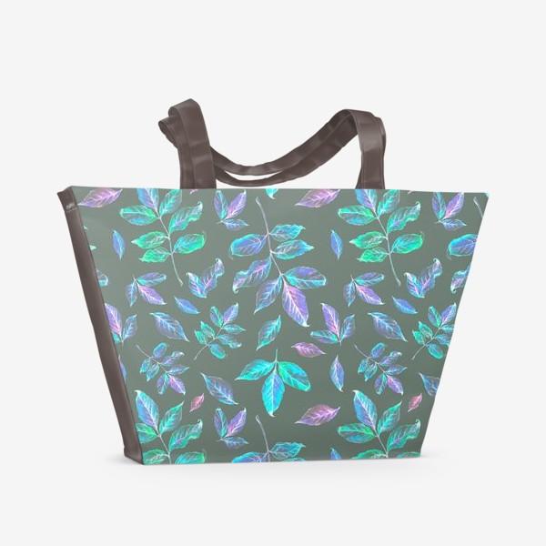 Пляжная сумка «Акварельные осенние листья 6»