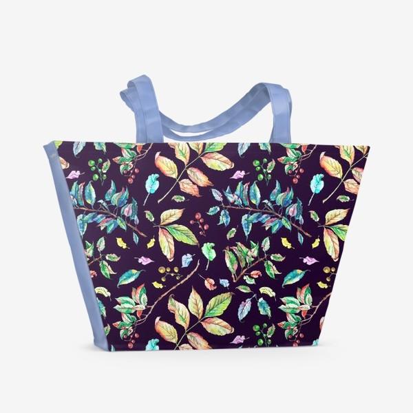 Пляжная сумка «Акварельные осенние листья 3»