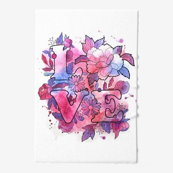 Полотенце «Любовь. Love. День влюбленных»
