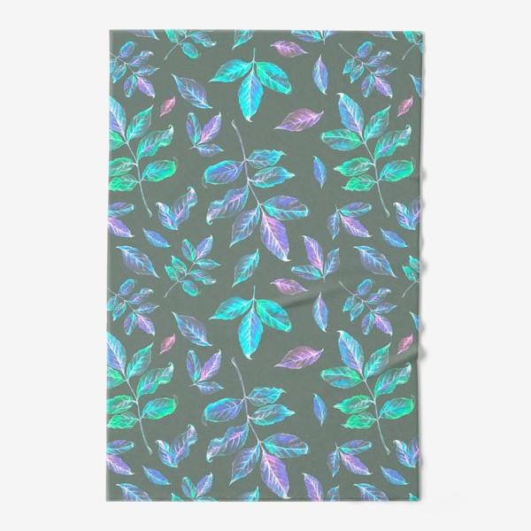 Полотенце «Акварельные осенние листья 6»