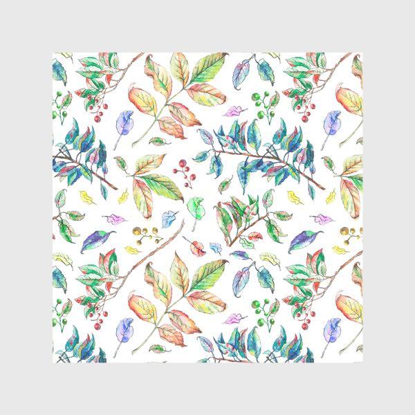 Скатерть «Акварельные осенние листья 2»