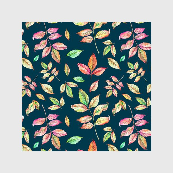 Шторы «Акварельные осенние листья 4»