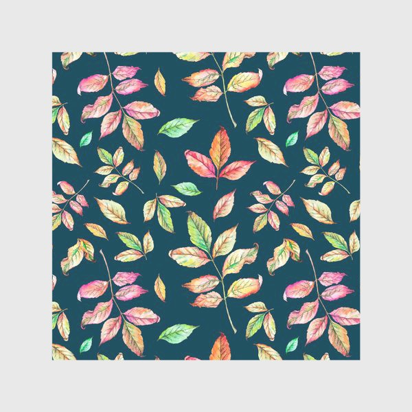 Скатерть «Акварельные осенние листья 4»