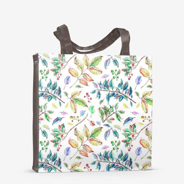 Сумка-шоппер «Акварельные осенние листья 2»