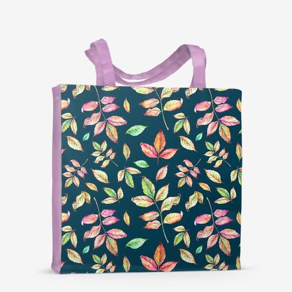Сумка-шоппер «Акварельные осенние листья 4»