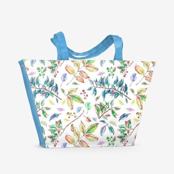 Пляжная сумка «Акварельные осенние листья 2»