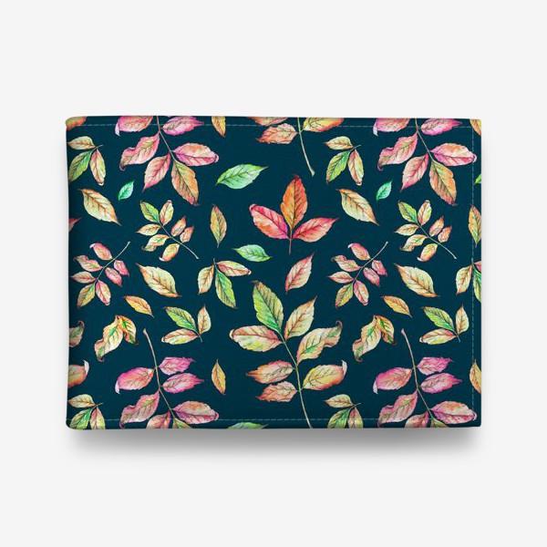 Кошелек «Акварельные осенние листья 4»