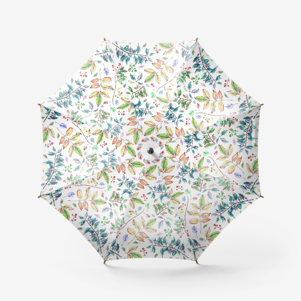 Зонт «Акварельные осенние листья 2»