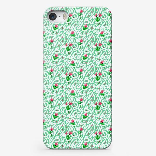 Чехол iPhone «Весенние буквы»