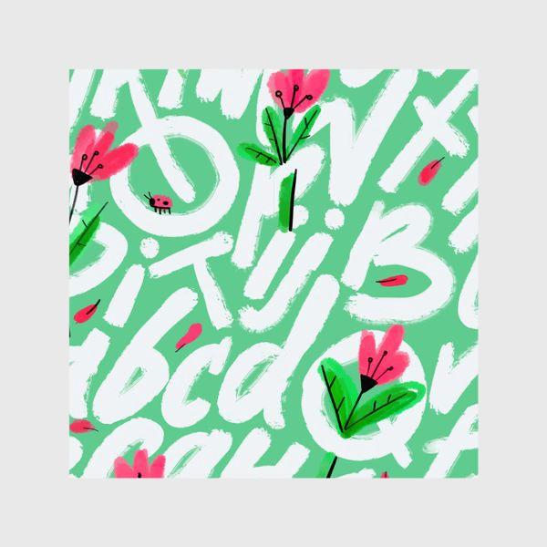 Шторы «Весенние буквы»