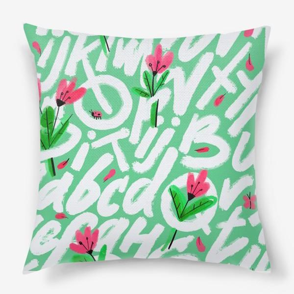 Подушка «Весенние буквы»