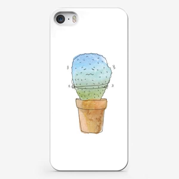 Чехол iPhone «Кактус зимой»