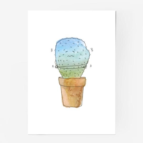 Постер «Кактус зимой»