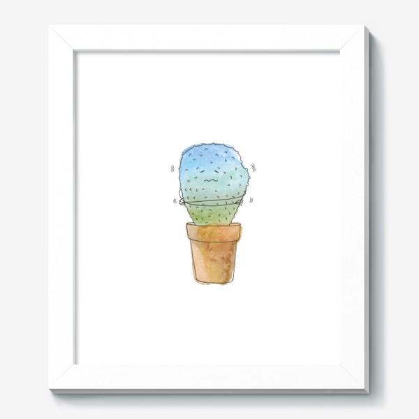Картина «Кактус зимой»