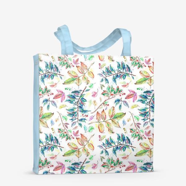 Сумка-шоппер «Акварельные осенние листья »
