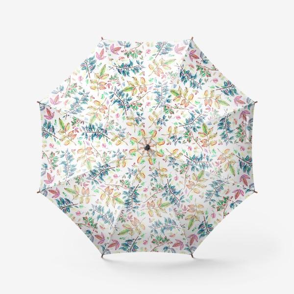 Зонт «Акварельные осенние листья »
