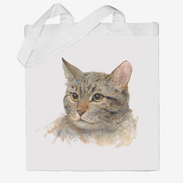 Сумка хб «Портрет кота»