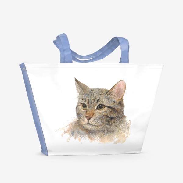 Пляжная сумка «Портрет кота»