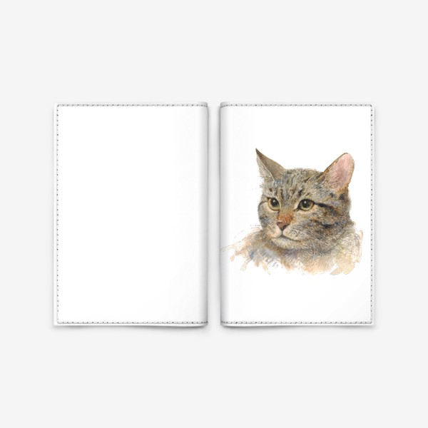 Обложка для паспорта «Портрет кота»