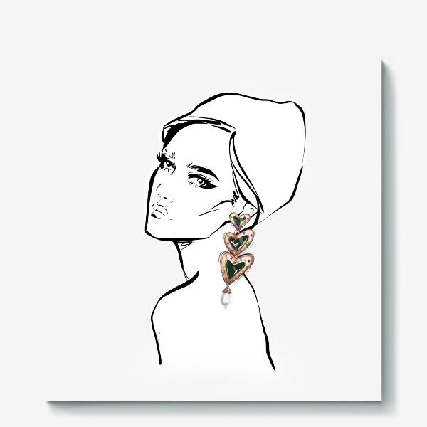 Холст «Girl with earring »