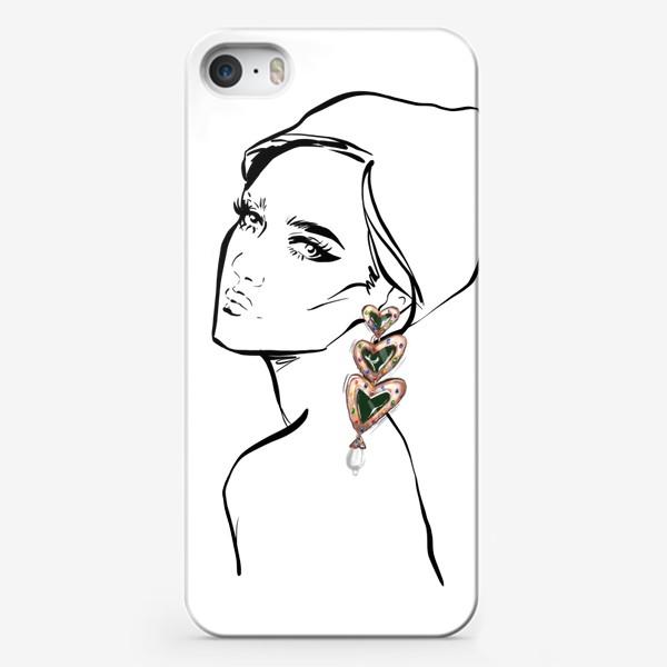 Чехол iPhone «Girl with earring »
