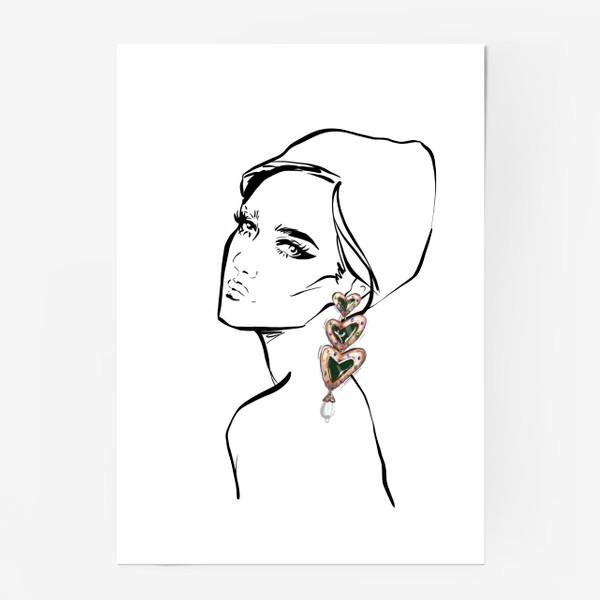 Постер «Girl with earring »