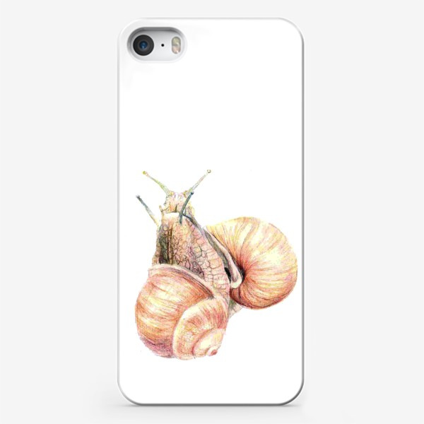 Чехол iPhone «пара влюбленных улиток (улитка)»