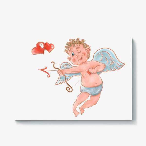Холст «Амур. День влюбленных»