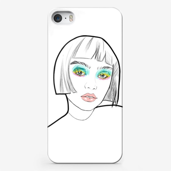 Чехол iPhone «Graphic girl »