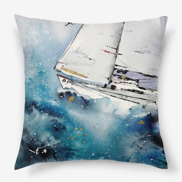 Подушка «Парусник»