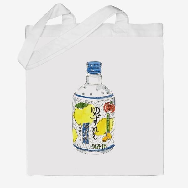 Сумка хб «Японский напиток»