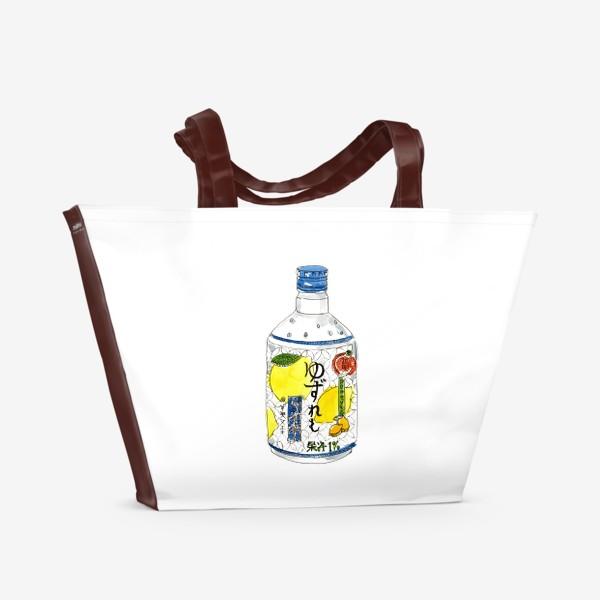 Пляжная сумка «Японский напиток»