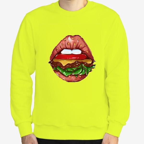Свитшот «Burger lips »